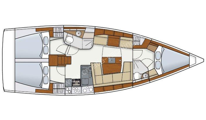 hanse 415 Croatia, Sailing boats, Sailing yacht Charter Croatia by Charter ...